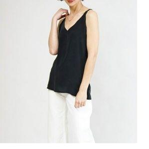 NWT Podolls Salon Cami silk tank top black Small